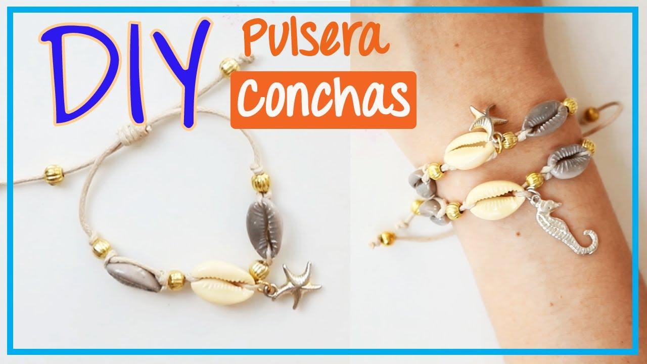 d63233378373 Pulsera de Moda con Conchas | Tutorial