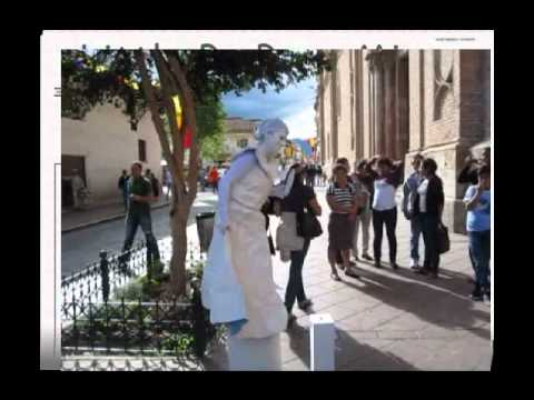 Cuenca Ecuador Art Festival:Spray Paint Artists, Mimes & Traditonal Band of Cuenca