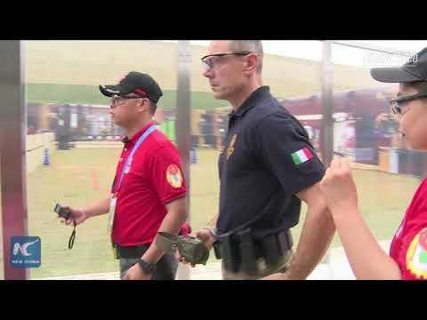 Police officers compete in shooting contest in Guangdong, Ch