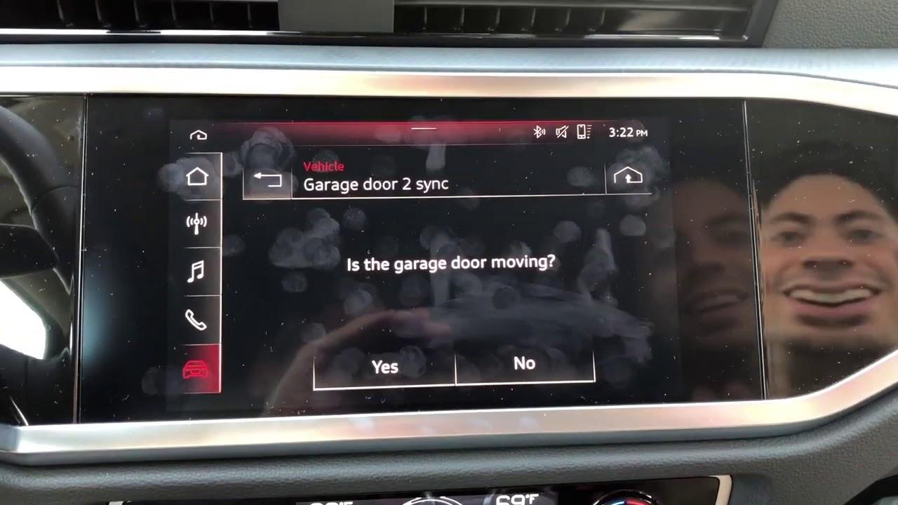 2019 Audi Q3 Garage Door Setup Youtube
