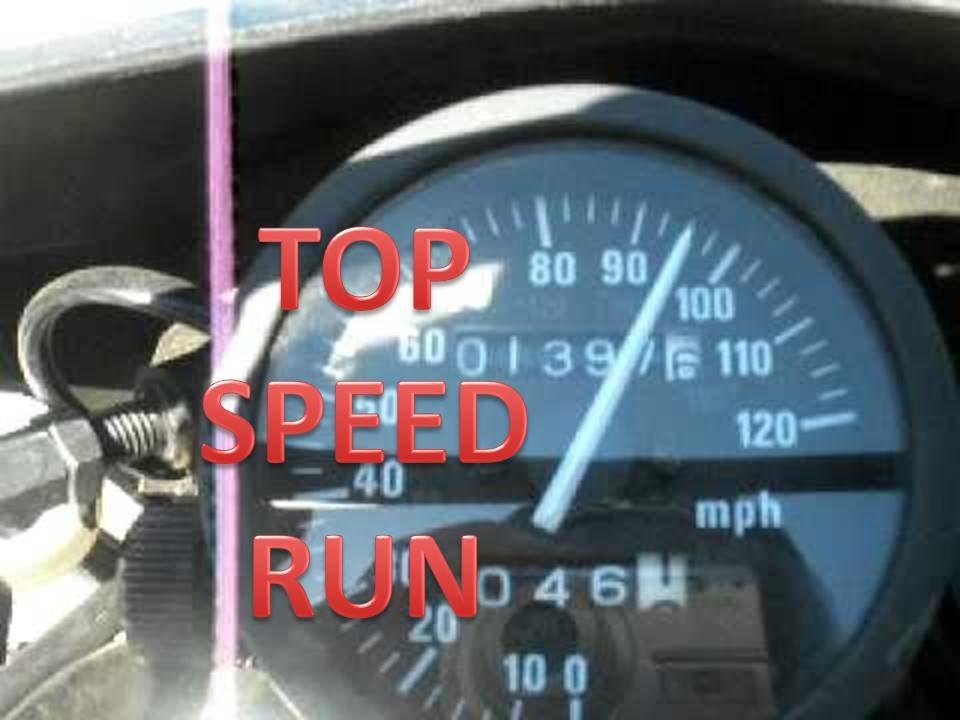 suzuki dr650 top speed run - youtube