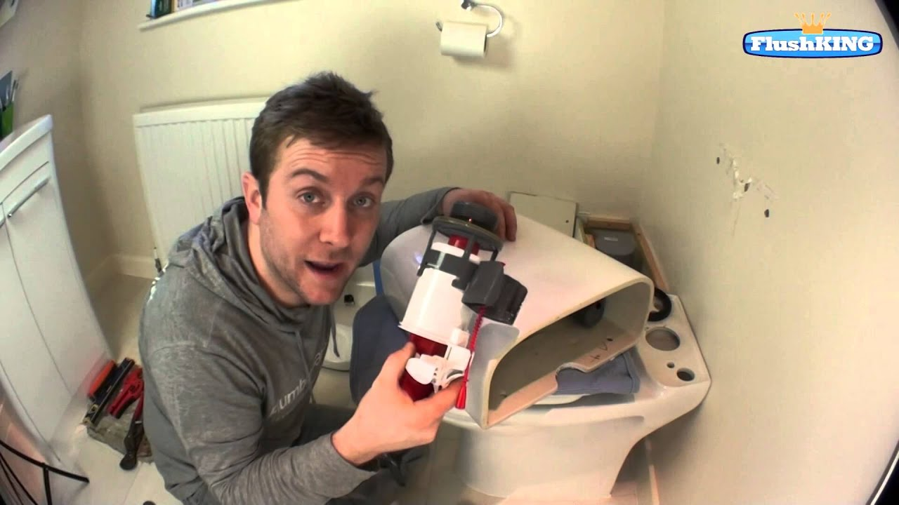 push button toilet cistern parts. How to Change a Top Fixed Push Button Flush Valve in Toilet Cistern  YouTube