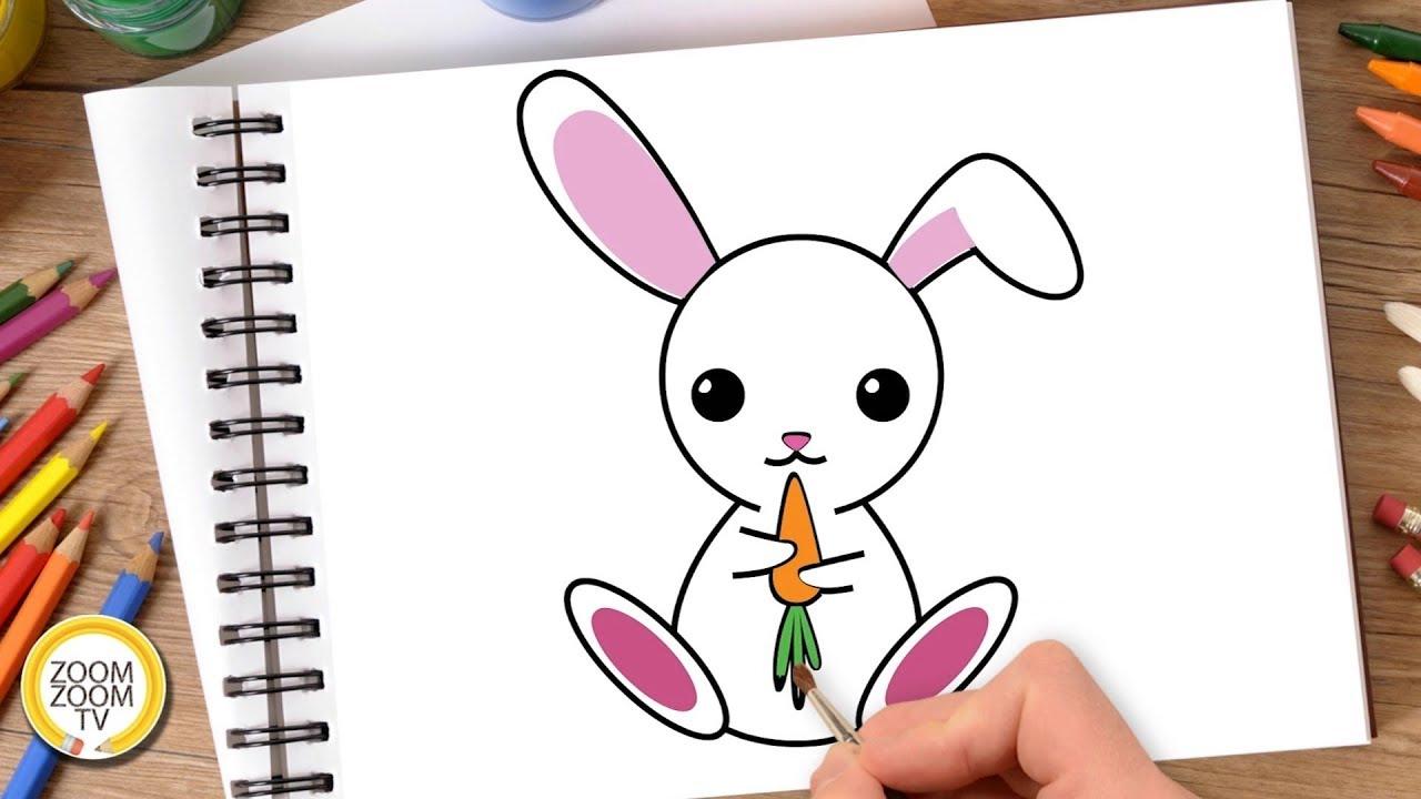 Hướng dẫn cách vẽ CON THỎ, Tô màu CON THỎ – How to draw a Bunny Rabbit