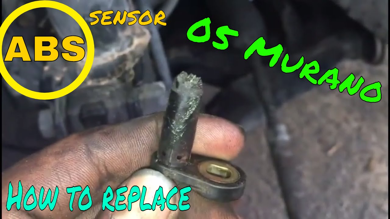 How To Replace Front Abs Sensors 2005 Nissan Murano Youtube
