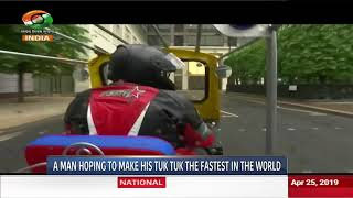 DD INDIA | London man prepares to ride the fastest TukTuk in the world