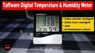 Digital Temperature Humidity Meter Clock Alarm Calender HTC-2