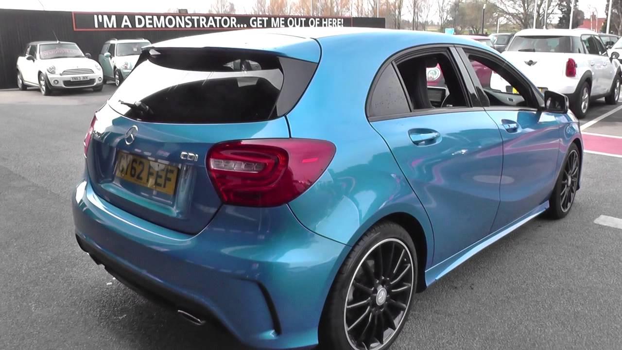 Mercedes benz a200 blue cy amg sport cd u63464 youtube for Mercedes benz a200