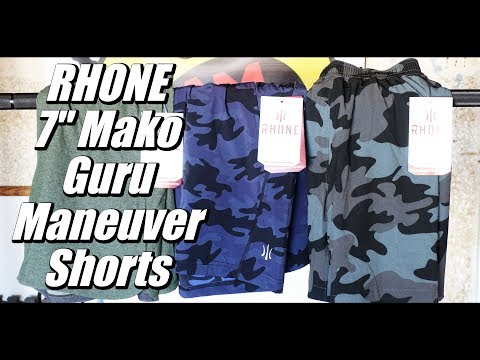 "Rhone 7"" Mako, Maneuver, Guru Shorts Review"