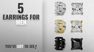 Top 10 Earrings For Men [2018]: BESTEEL 3Pairs Stainless Steel Earrings Magnetic for Men Women Stud
