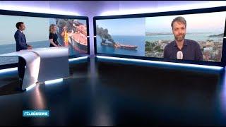 Explosies op twee tankers in het Midden-Oosten