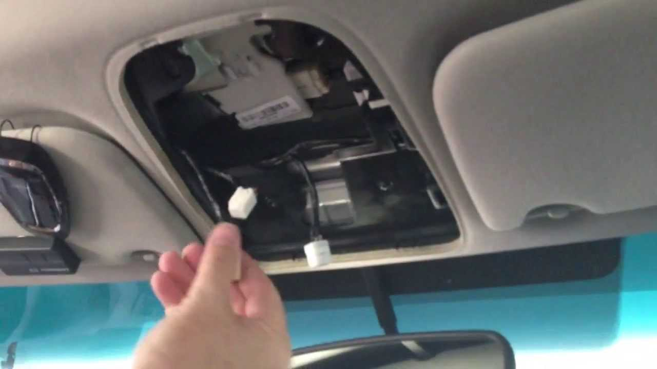 How to replace a Sienna Roof Control Panel YouTube