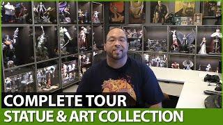 Statue \u0026 Art Collection - Complete Man Cave Tour