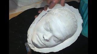 Изготовление маски с лица по гипсовой форме (Уроки скульптуры и рисунка)