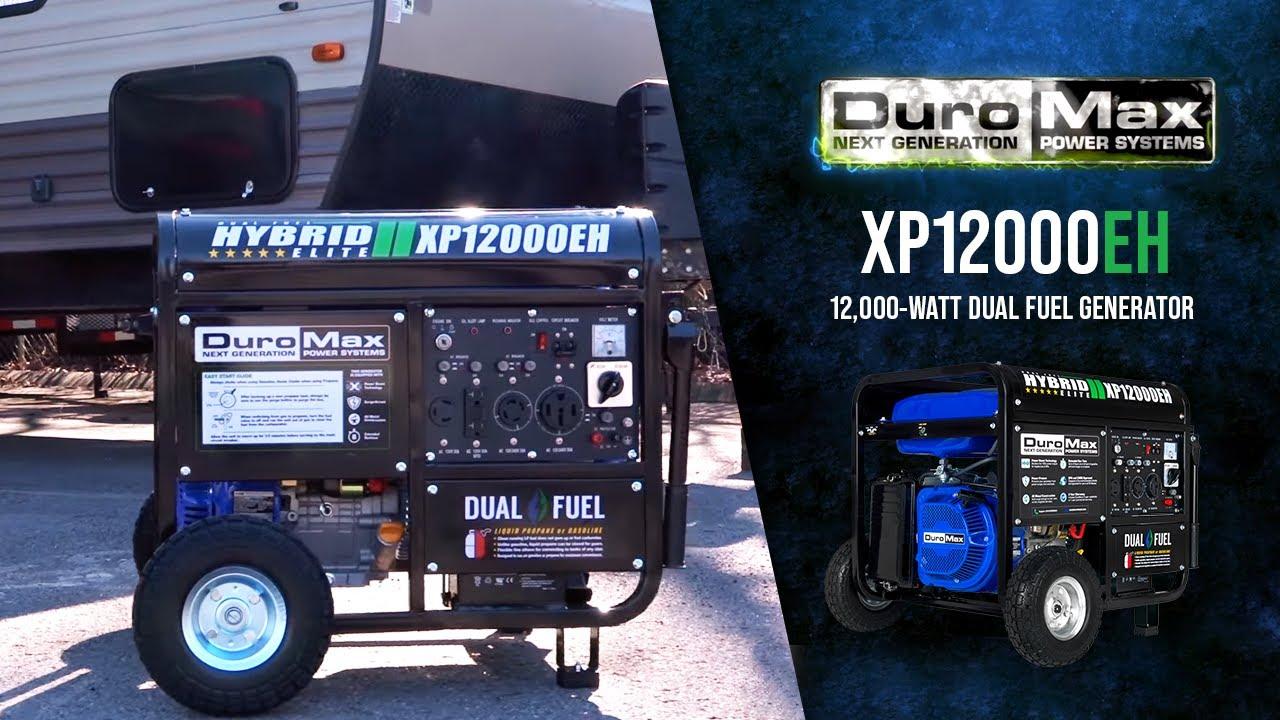 DuroMax XP12000EH 12000-Watt 18 HP Portable Dual Fuel Gas