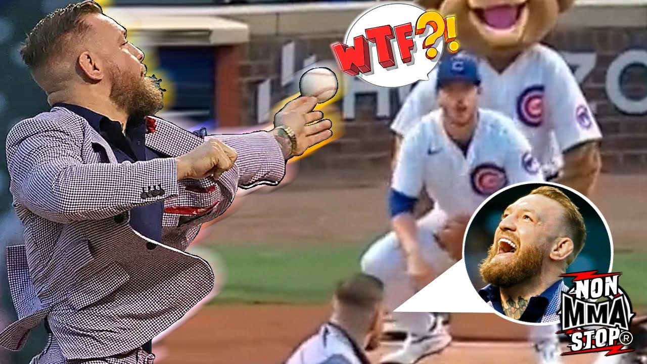 Conor McGregor rivals 50 Cent for worst-ever first pitch at baseball ...