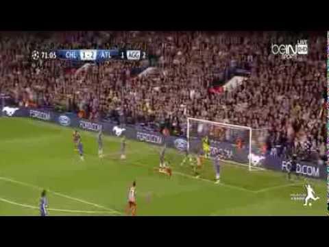 ▶ Arda Turan Goal Chelsea vs Atletico Madrid Champions League 2014