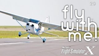 FSX Flying with Nicole #2 - Landings!