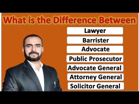Difference Between Lawyer, Barrister, Advocate, Advocate General, Etc. II By Advocate Vikrant Hudda