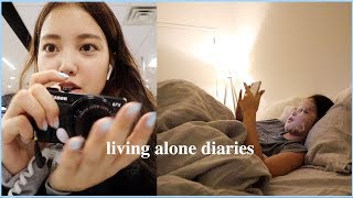 Living Alone Diaries | How I Self-Care, Feeling guilty & overworked, Vlog Camera Giveaway