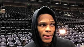 Thunder vs Jazz - Russell Westbrook pre-game Game 6