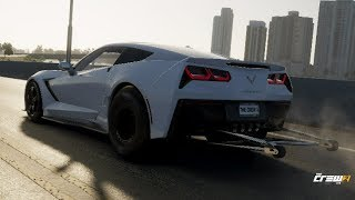 The Crew 2 | Drag C7 Corvette Stingray - Customization & Street Test Hits [4K Gameplay]