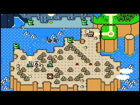 SMW (SNES) (100%) / 06. World 6: Chocolate Island [CC] [1080p@60]