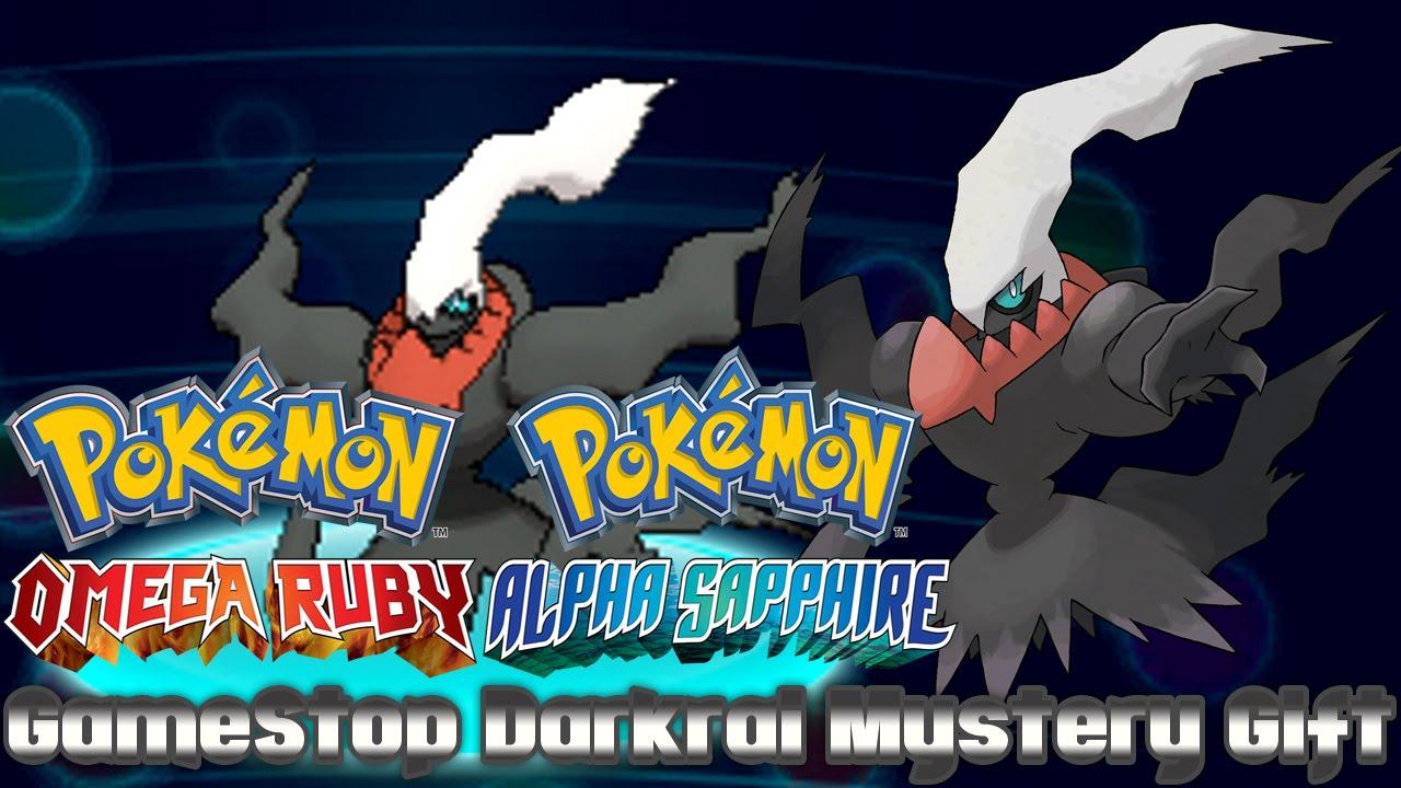 Pokémon 20th Anniversary GameStop Darkrai Mystery Gift - YouTube