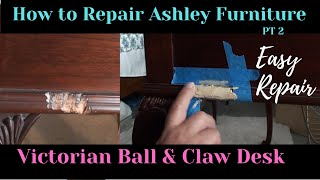 How to Repair Chips or Dents -Furniture Touch up - DIY Episode 2 - Mahogany Desk