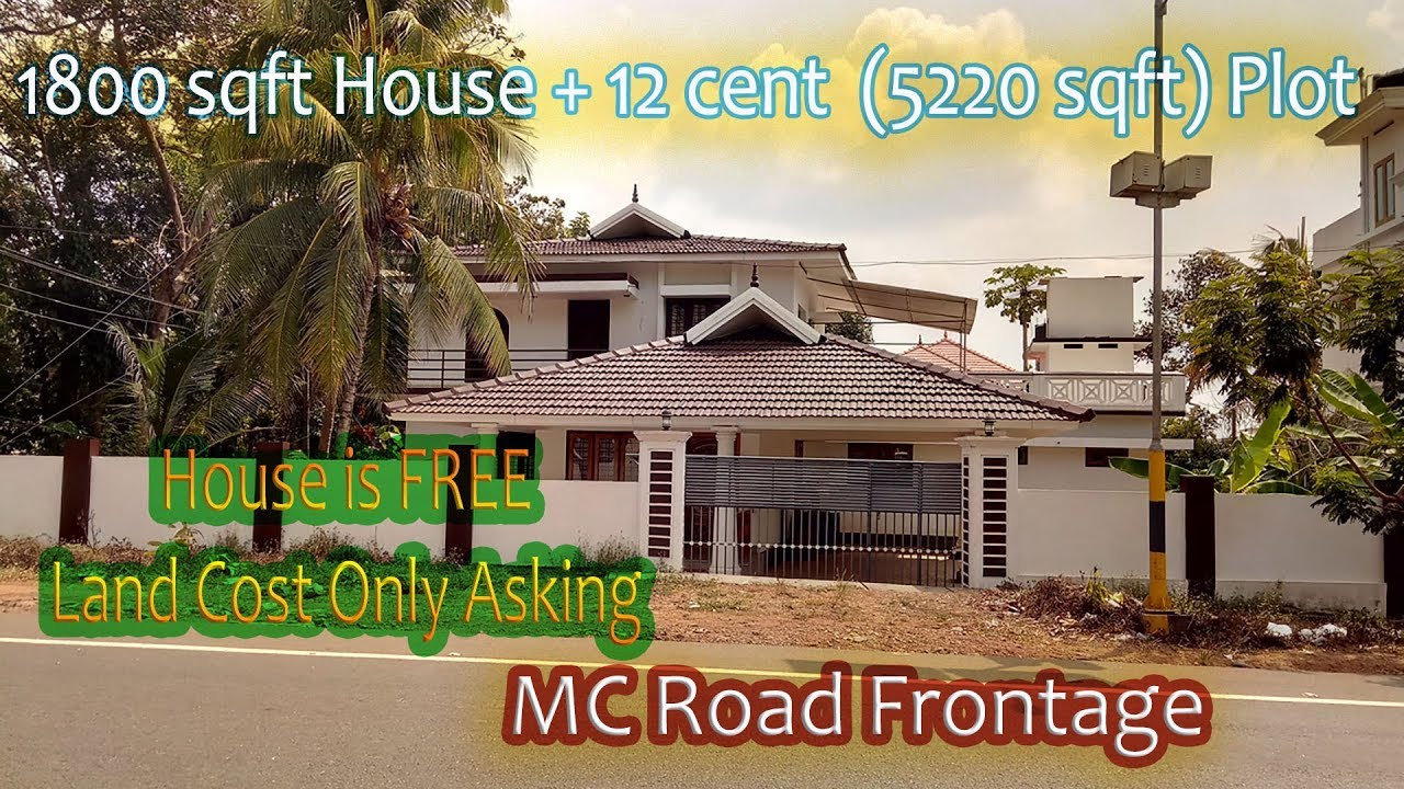 house for sale in changanassery thuruthi 12 cent 1800 sqft 4 bhk MC road