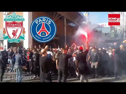 Paris Saint-Germain Fans Take Over Liverpool City Centre Ahead Of Champions League Game