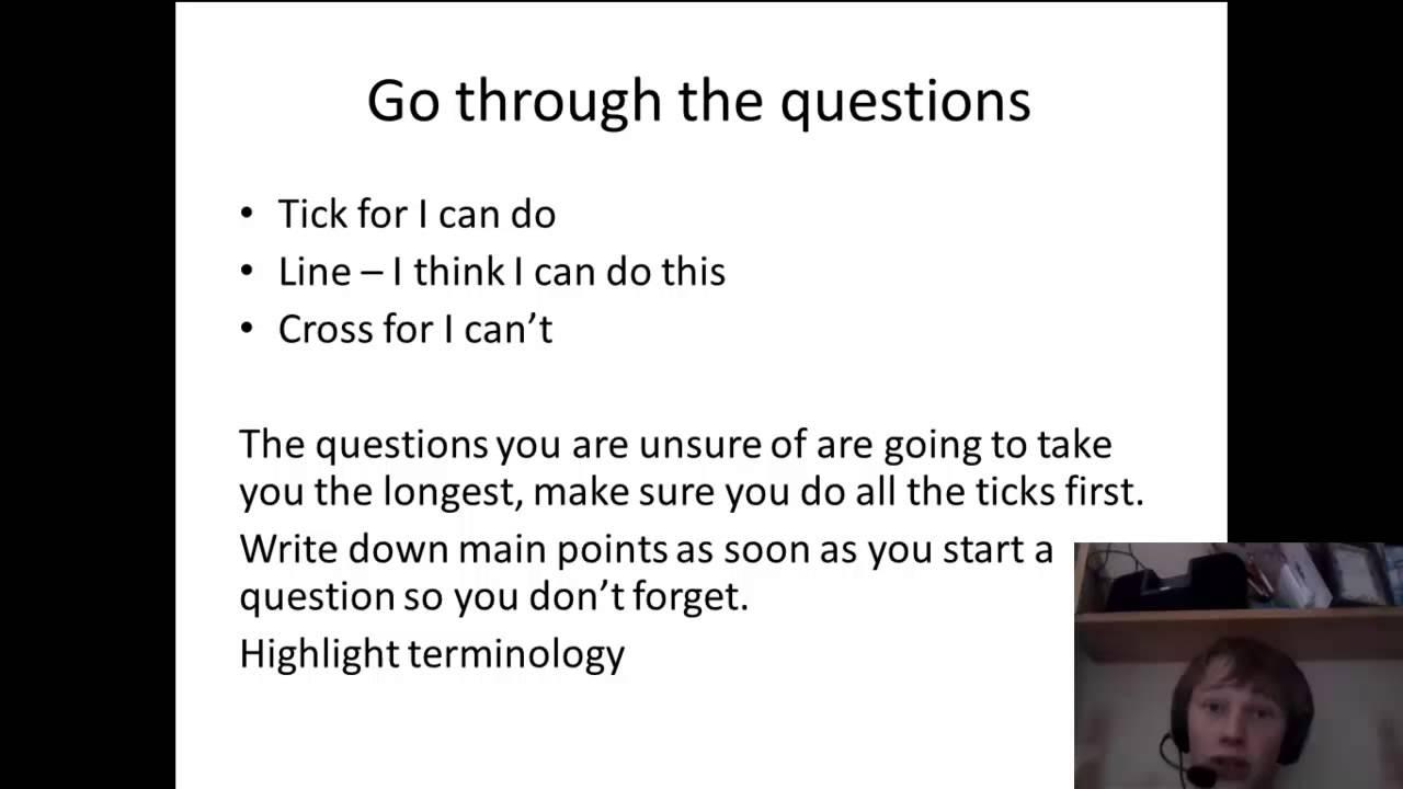 essay exam advice