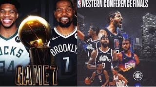 Los clippers a Final de conf | Bucks vs Nets Juego 7 | Siguen rumores de Luka Doncic a Lakers 🔥🔥🔥
