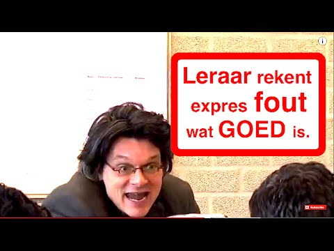 LERAAR GEEFT EXPRES LAGER CIJFER!