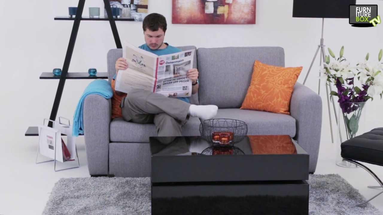 FIX Bäddsoffa Grå Furniturebox YouTube
