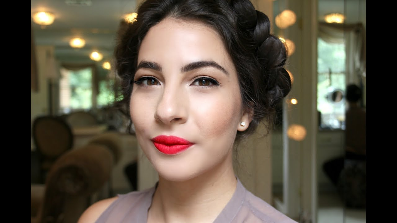 Easy Red Lips Makeup Tutorial - YouTube