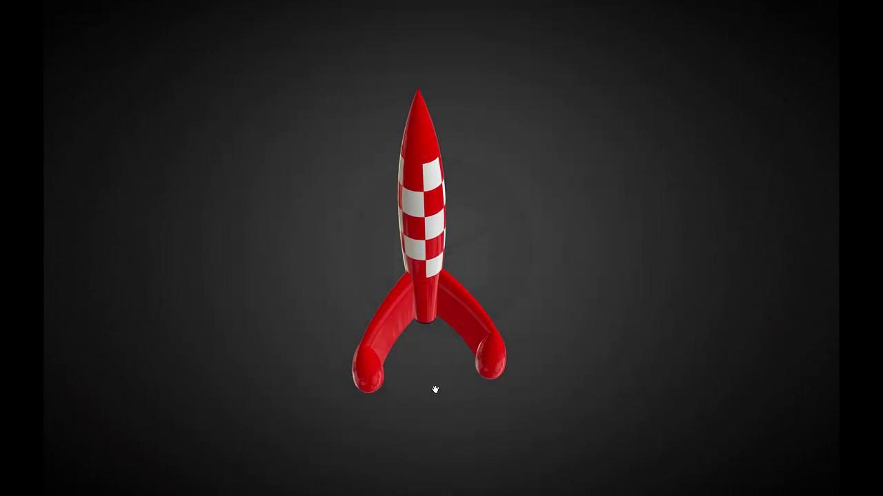 Rhinoc ros facile fus e tintin 3d youtube - Fusee de tintin a colorier ...
