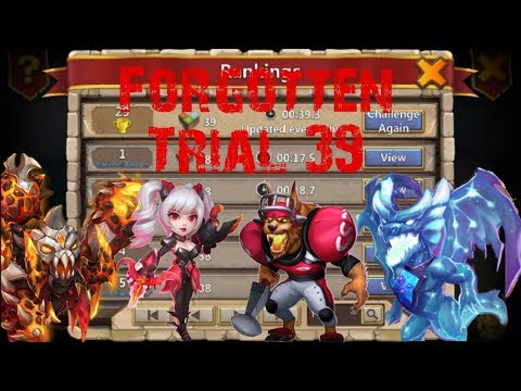 Forgotten Trial | 39 | Castle Clash | Pacbnnnbbn FIRST TO BEAT IN | NEW UPDATE
