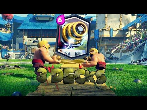 Clash Royale: 3 Decks Arena 5 E 6  | 1 Deck Comun E 2 Deck De Sparky