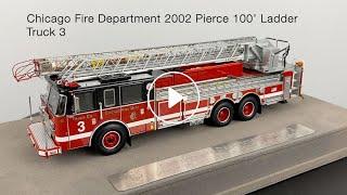 Chicago Fire Department 2002 Pierce 100' Ladder - Truck 3