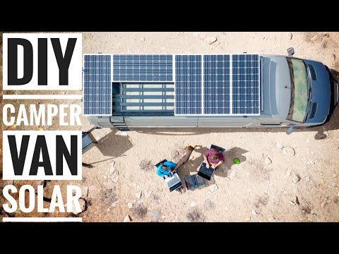 How to Install Solar on a DIY Campervan | Adventure in a Backpack