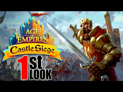 Age of Empires: Castle Siege - Build, Defend, SIEGE! (1st Look iOS Gameplay)