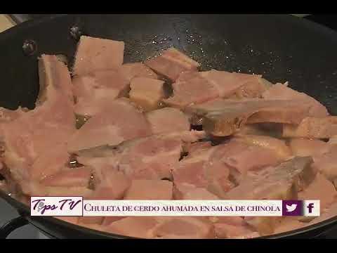 Chuletas de Cerdo en Salsa de Chinola
