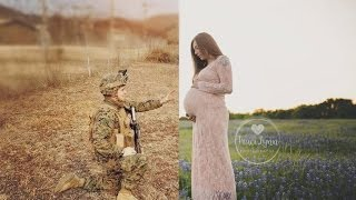 Navy Husband Gets Included In Wife's Maternity Photo While Being Deployed