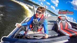 "DONUTS In An INSANE New Bass Boat!! (Skeeter Boats ""FXR"")"