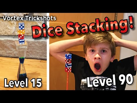 DICE STACKING Trick Shots From Level 1-100 (Inspired by That's Amazing)