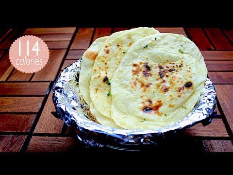 Garlic naan recipe - 2 ways garlic naan without oven - garlic naan in oven - naan bread recipe