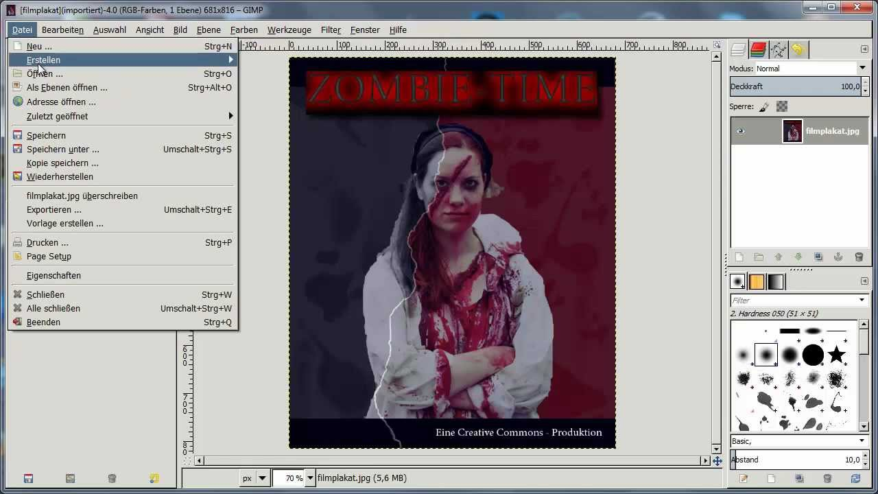Gimp-Workshop: Bildmontage (Filmplakat) - YouTube
