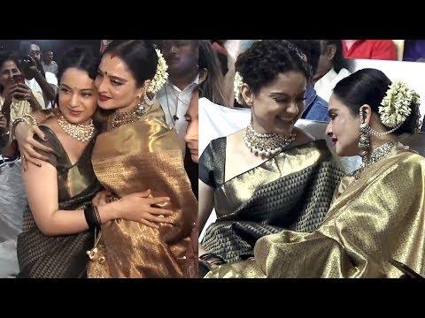 WOW | Rekha Shows LOVE & Respect For Kangana Ranaut after Seeing Manikarnika-Jhansi Ki Rani Trailer