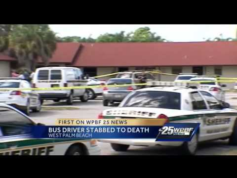 PBC school bus driver stabbed to death, arrest made - YouTube