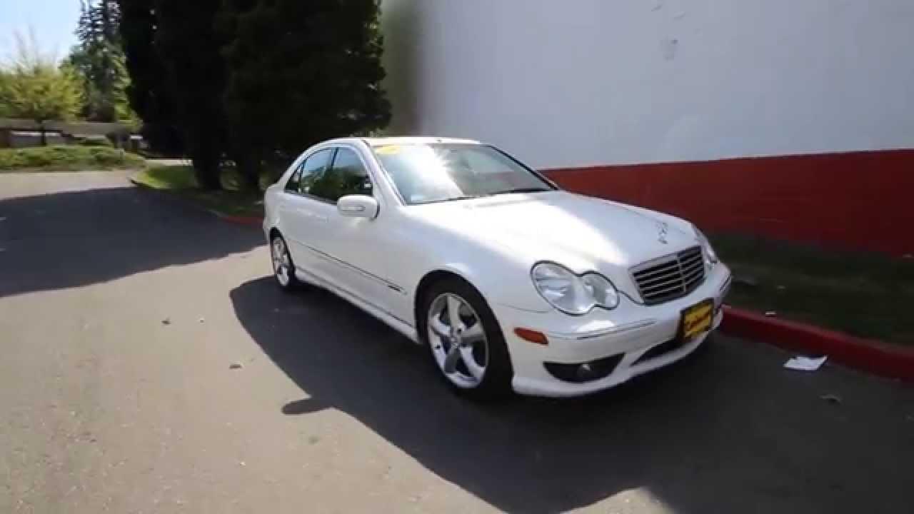 2005 mercedes benz c class c230 kompressor sport white for Mercedes benz kompressor 2005